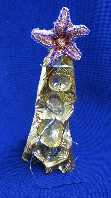 поделка ёлочка из пластиковой конфетной обертки