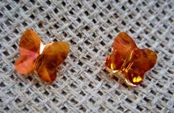 Бусинки — бабочки, кристаллы Сваровски