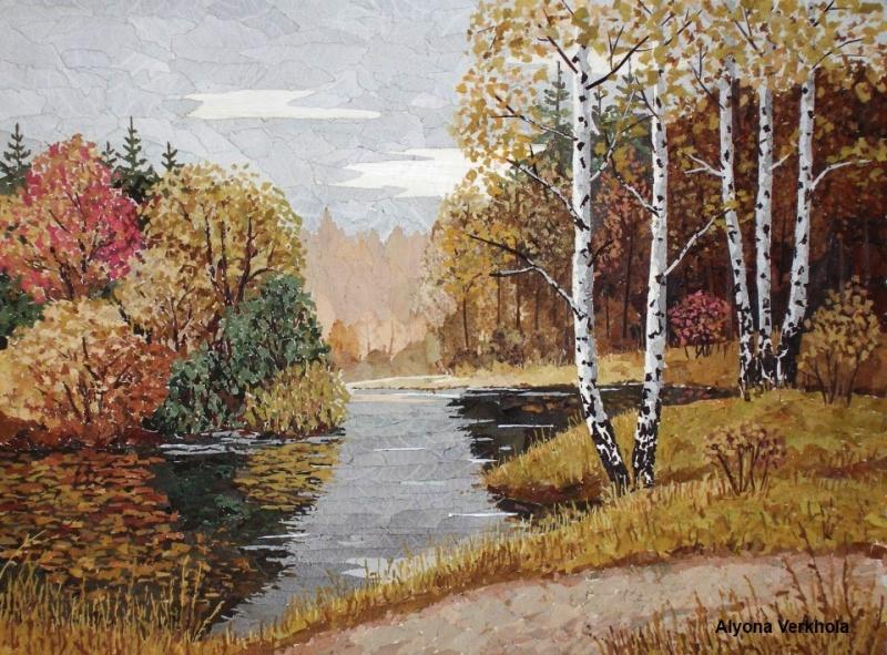 Картина в технике ошибана — живопись природным материалом.