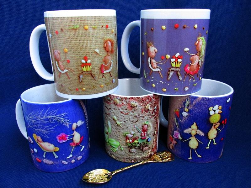 Чашки с принтом — оригинальные картинки из природного материала.