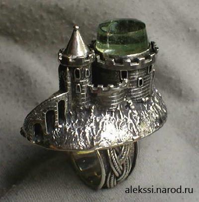 Серебряный перстень — замок
