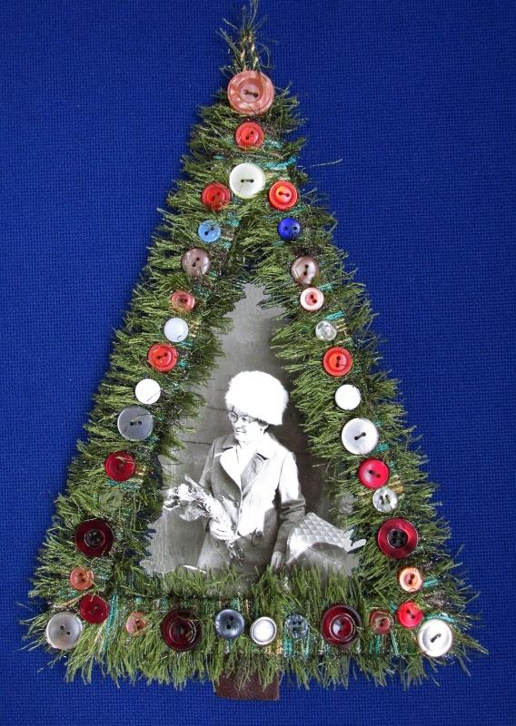 Рамка для фотографии в виде новогодней ёлочки