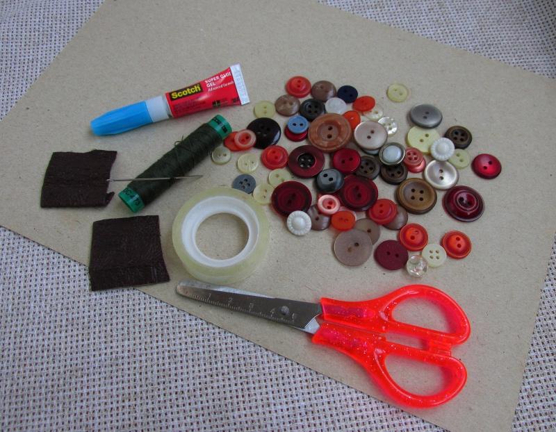 Материалы и инструменты для поделки ёлочка своими руками