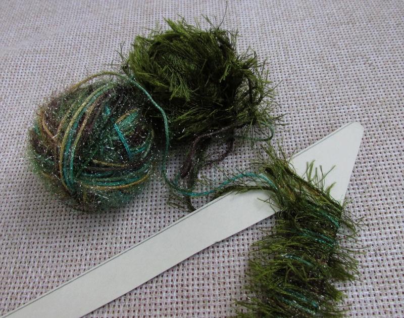 Как наматывать нити возле верхушки